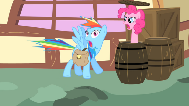 File:Pinkie Pie pops out of a barrel S1E25.png