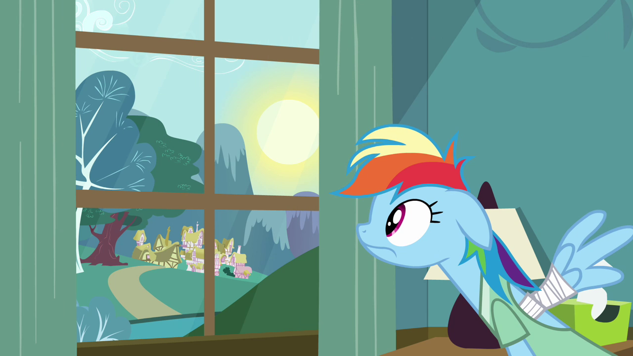 Image - Rainbow Dash morning S02E16.png | My Little Pony