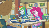 Rainbow and friends having lunch EG2