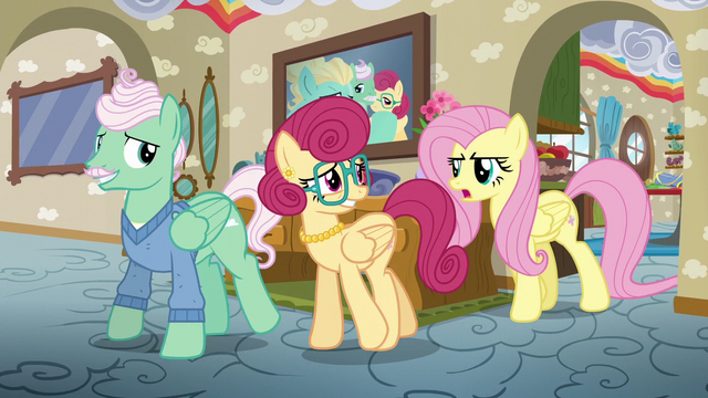 File:Fluttershy disapproves of her parents' idea S6E11.png