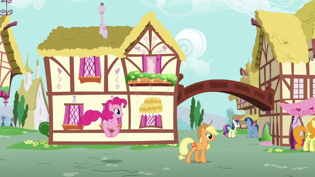 File:Pinkie Pie and Applejack walking through Ponyville S6E11.png