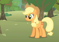 Applejack bucking apples S1E12.png