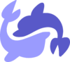 Zwei Delfine
