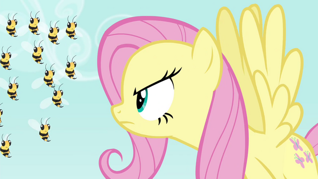 File:Fluttershy scolding the bees S4E16.png