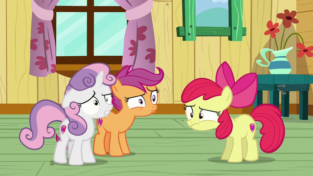 File:Cutie Mark Crusaders back on the floor in confusion S6E4.png