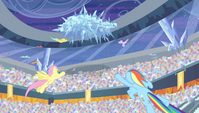 Pegasi fly toward the frozen cloud S4E24