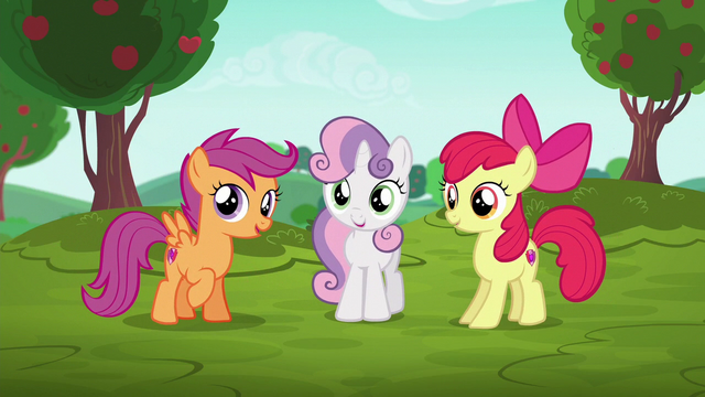File:Cutie Mark Crusaders hear Cheerilee's announcment S6E14.png
