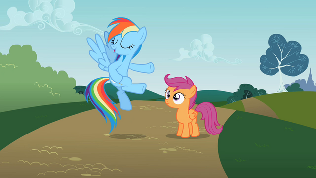 File:Rainbow Dash and Scootaloo S2E8.png