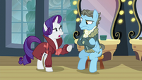 "Rarity ""Perhaps after they dropped off the fake letter"" S5E15"