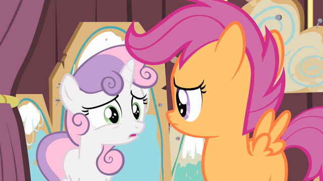 File:Sweetie Belle 'We've gotta catch the early train to the Crystal Empire' S4E05.png