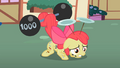 Apple Bloom lifting barbell S2E06.png