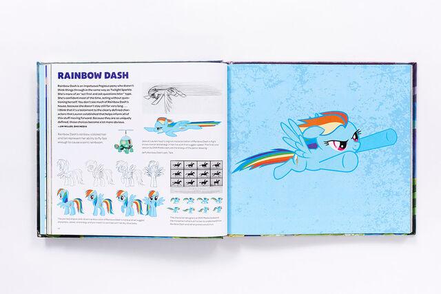 File:Art of Equestria page 54-55 - Rainbow Dash concept art.jpg
