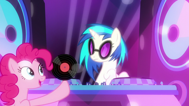 File:Pinkie Pie gives record to DJ Pon-3 S6E9.png