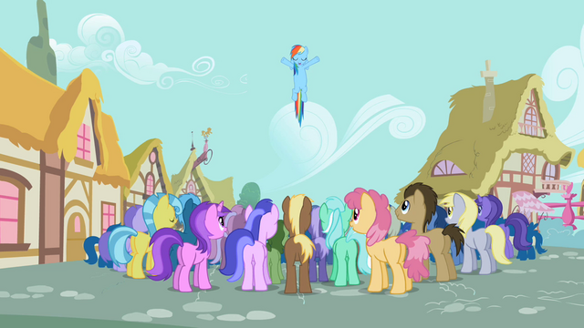 File:Pony Crowd Cheering S2E8.png