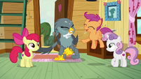 Scootaloo jumping with joy S6E19
