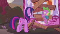 Twilight and Spike getting very worried S5E25