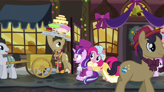File:Dr. Hooves holding up a large tray of sweets S6E8.png