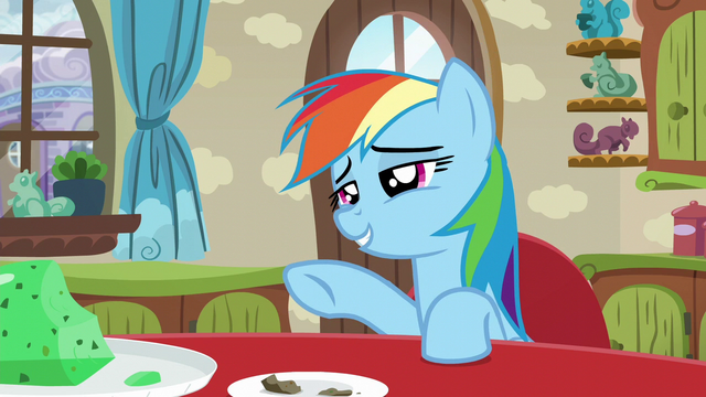 "File:Rainbow Dash ""it was great as usual"" S6E11.png"