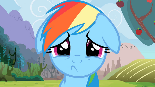 File:Rainbow Dash Sad S2E15.png