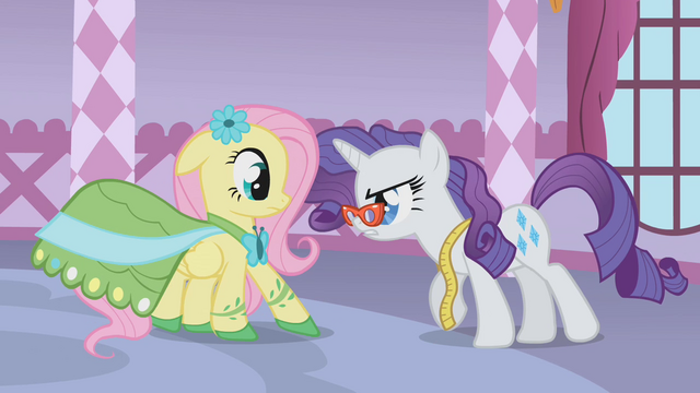 File:Rarity backing Fluttershy into a corner S1E14.png