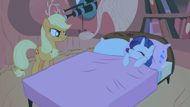 "File:Applejack and Rarity ""that's not gonna happen"" S01E08.png"