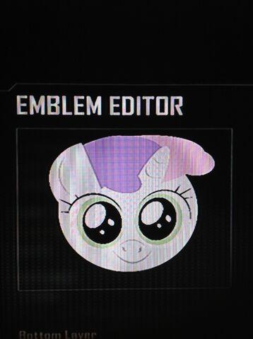 File:FANMADE Sweetie Belle Black Ops 2 Emblem.jpg