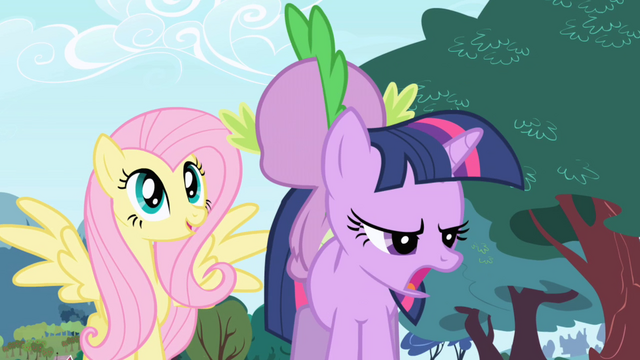 File:Fluttershy Spike and Twilight S01E01.png