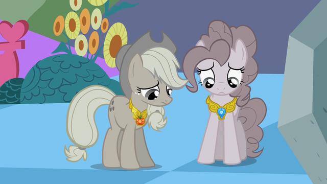 File:Applejack and Pinkie Sad S2E2.png