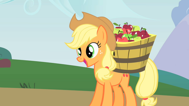 File:Applejack is taking apples to her new apple cellar S1E15.png