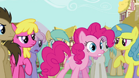 Pinkie Pie claiming herself to be the real Pinkie Pie S3E03