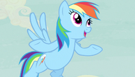 "Rainbow Dash ""Fighting a horrific monster"" S5E1"