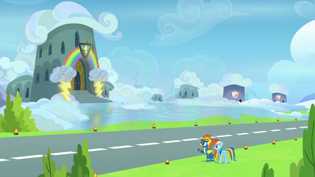 File:Spitfire shows Rainbow the Wonderbolts' barracks S6E7.png