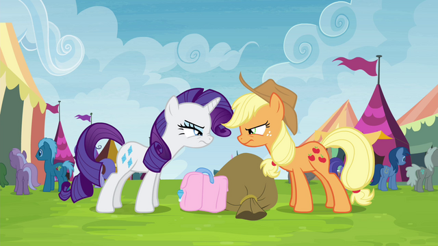 File:Applejack and Rarity glaring at each other S4E22.png