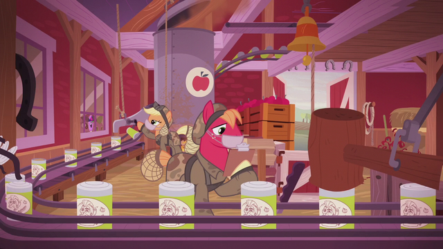 File:Applejack and Big McIntosh working in the apple plant S5E25.png