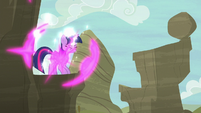 Twilight teleports onto a mountain cliff S6E21