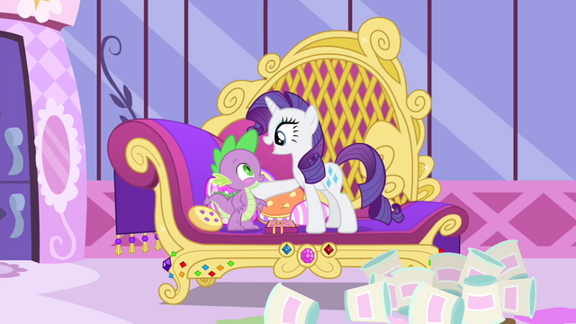 "File:Rarity ""you've come through with flying colors!"" S4E23.png"
