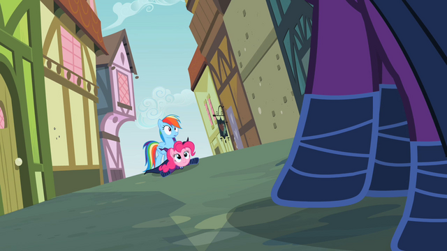 File:Rainbow Dash and Pinkie see another Mare Do Well S2E08.png