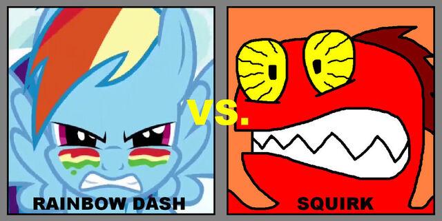 File:FANMADE Rainbow Dash vs. Squirk by ian2x4.jpg