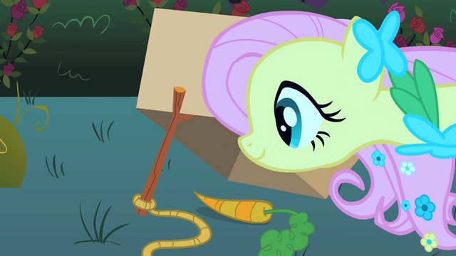 File:Fluttershy setting a trap S01E26.png