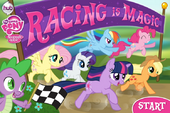 Racing is Magic title screen Hubworld
