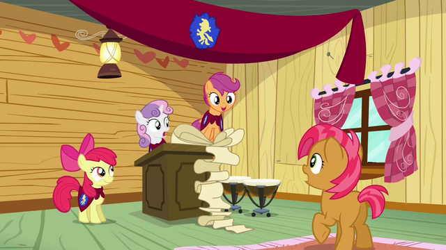 File:Scootaloo congratulating Babs Seed S3E04.png