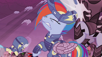 Rainbow Dash headbutts Crystal Pony S5E25