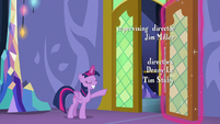 Twilight Sparkle welcoming her friends S6E22