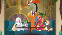 Discord, Spike, Big Mac, and dogs play poker S6E17