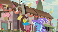 Trixie laughing derisively at Discord S6E26