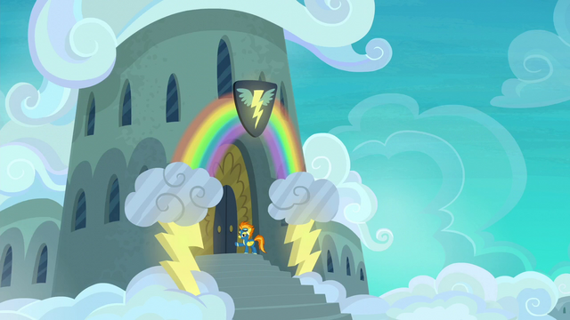 File:Spitfire outside the Wonderbolts' barracks S6E7.png