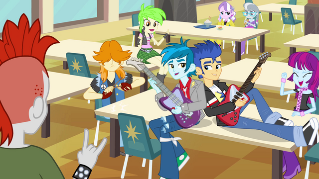 File:Canterlot High School rockers EG.png
