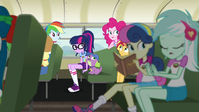 File:Equestria Girls on the Camp Everfree bus EG4.png