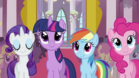 Rarity, Twilight, Rainbow Dash and Pinkie S2E02