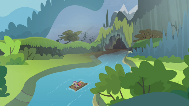 File:Apple family raft nearing cave S4E09.png